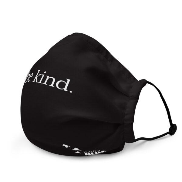 """Premium """"Be Kind"""" Face Mask - solid black"""