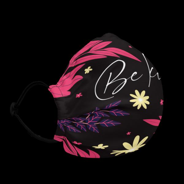 """Be Kind"" Floral Reusable Face Mask"