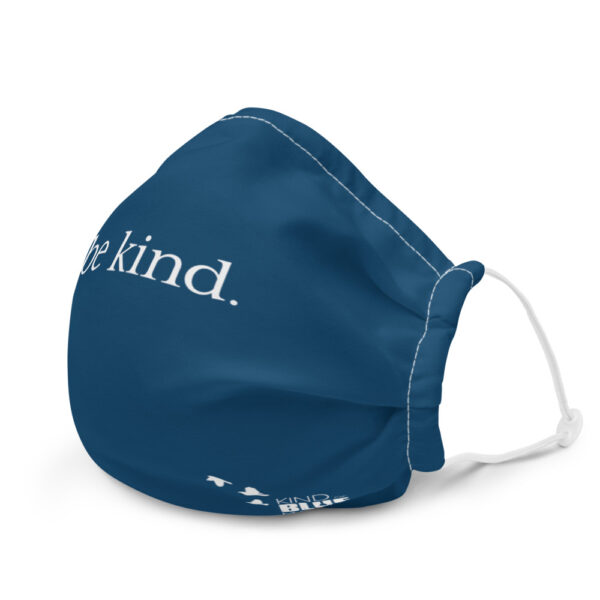 """Premium """"Be Kind"""" Face Mask - navy"""