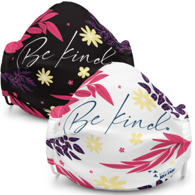 """Be Kind"" Floral Reusable Face Mask"